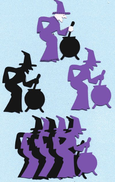 Witches & Cauldrons x 8