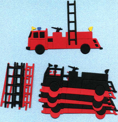Fire Engines x 6 sets