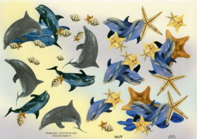 A4 Decoupage Sheet - Dolphins (504791)