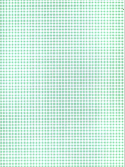 Backing Paper A4 - Green Gingham