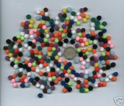 "Pompoms 1/4"" - Multicoloured x 50"