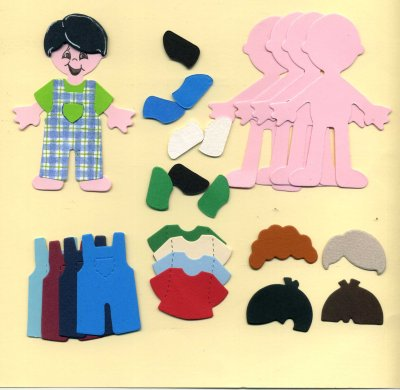 Doll Dungaree Set (Boy) x 4
