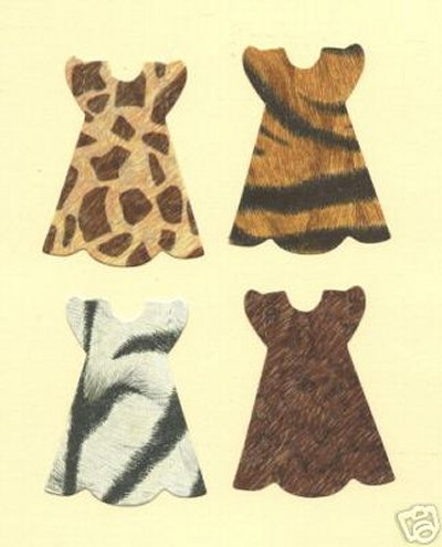 Doll Dresses (animal print) x 8