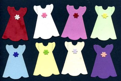 Doll Dresses (embellished) x 8