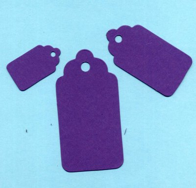Scallop Tags (small, medium & large) x 24