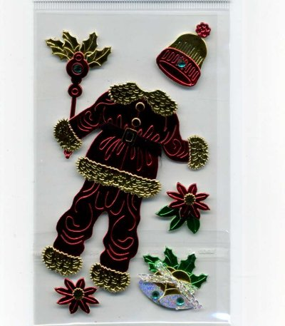 Christmas Foil Stickers - Santa Clothing (FX168)