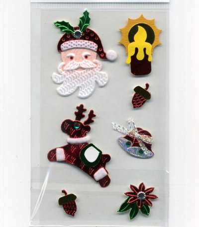 Christmas Foil & Felt Stickers - Assorted (FX172)