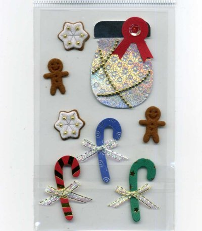 Christmas Foil Stickers - Christmas Candies (FX176)