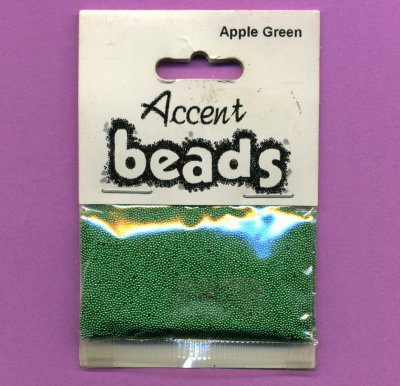 Accent Beads - Apple Green