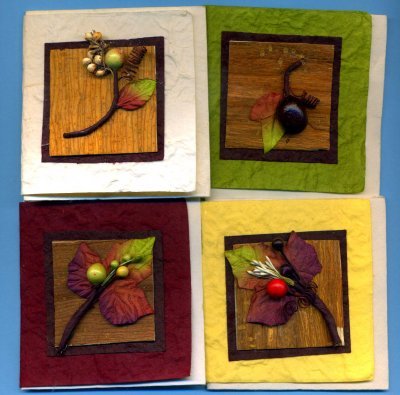 3D Mini Cards / Toppers - Autumn Leaves