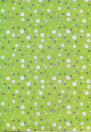 Backing Paper A4 - Green Dots (BCM50010)