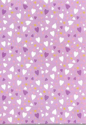 Backing Paper A4 - Lilac Hearts (BCWD0007)