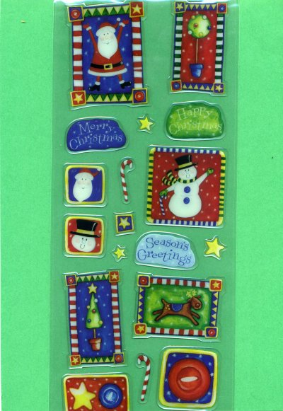 Bubbles & Borders - Christmas theme - Large (BS11)