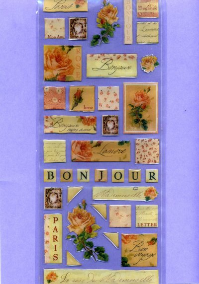 Bubbles & Borders - French theme - Large (BS01)