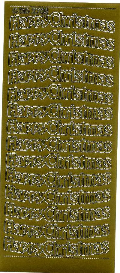 Happy Christmas (Large) 2708 - Gold