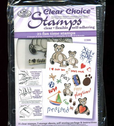 Clear Choice Stamps - Fun Time (Children's Toys)