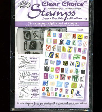 Clear Choice Stamps - Ransom Alphabet