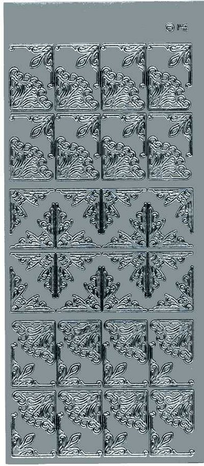 Small Ornate Corners - Silver