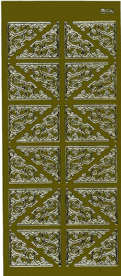 Large Ornate Corners - Gold