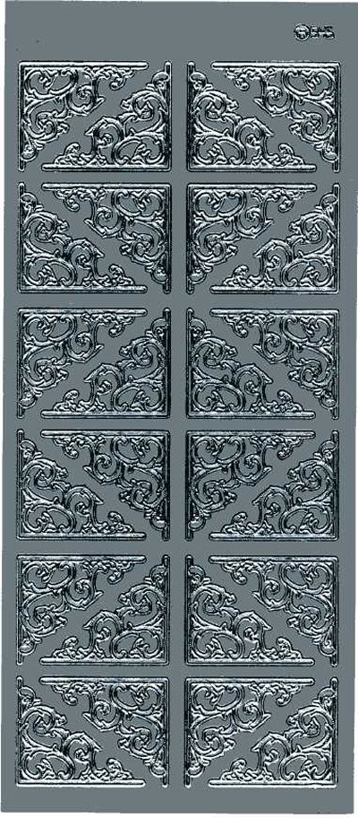 Large Ornate Corners - Silver