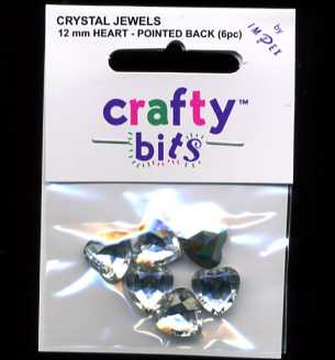 Crystal Jewels - Hearts 12 mm x 6