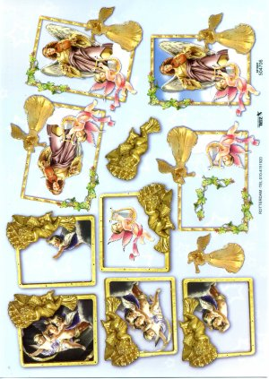 A4 Decoupage Sheet - Angels (504706)