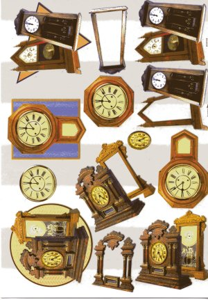 A4 Decoupage Sheet - Clocks (504255)