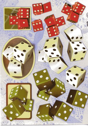 A4 Decoupage Sheet - Dice (504231)