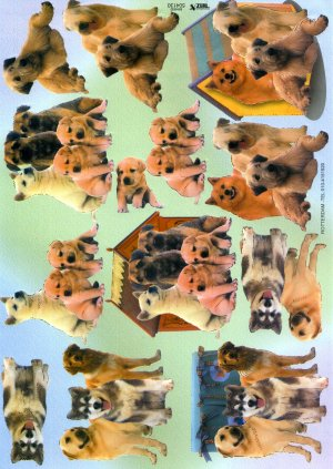 A4 Decoupage Sheet - Dogs (504130)
