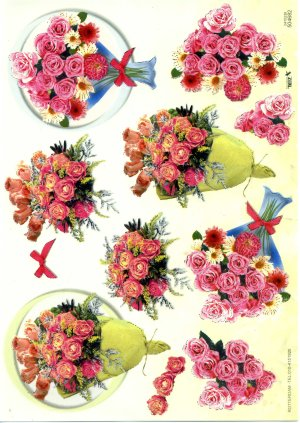 A4 Decoupage Sheet - Floral Arrangement (504682)