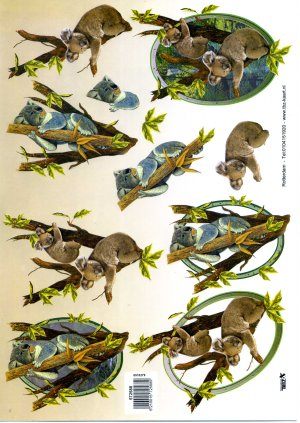 A4 Decoupage Sheet - Koalas (572588)