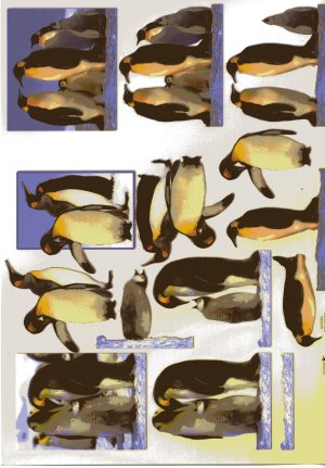 A4 Decoupage Sheet - Penguins (504226)