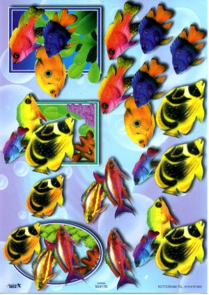 A4 Decoupage Sheet - Tropical Fish (504178)