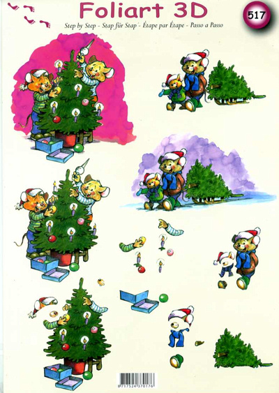 A4 Decoupage Sheet - Christmas Comedy - 517