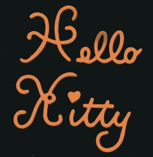Hello Kitty words x 6