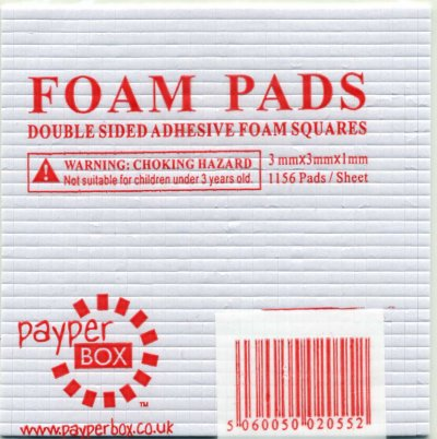 Double sided 3D foam pads - 3mm x 3mm x 1mm