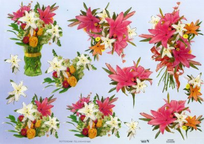 A4 Decoupage Sheet - Floral Arrangement (504686)