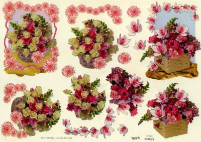 A4 Decoupage Sheet - Floral Arrangement (504683)