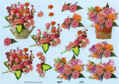 A4 Decoupage Sheet - Floral Arrangement (504691)