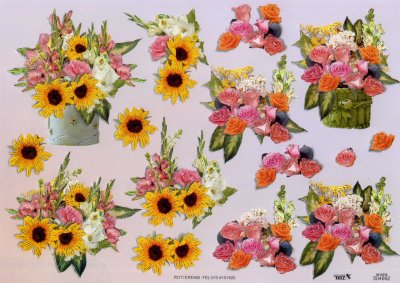 A4 Decoupage Sheet - Floral Arrangement (504692)