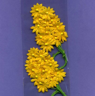 Floral Effects - Flower Sprays - Yellow x 2 (FS20)