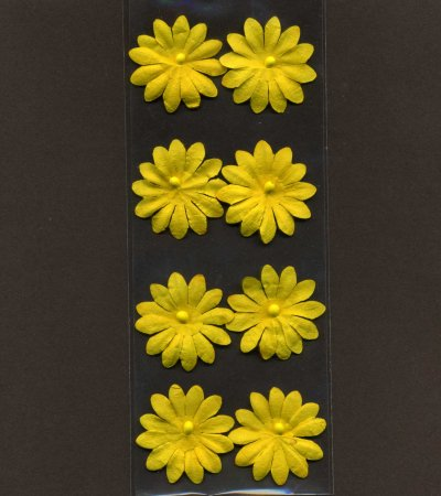 Floral Effects - Flower Heads - Yellow x 8 (FS13)