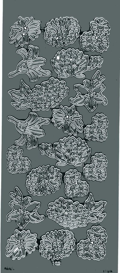 Assorted Flowers - Silver