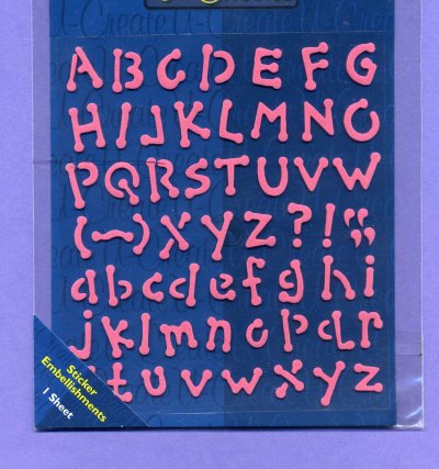 Foam Stickers - Alphabet - Pink