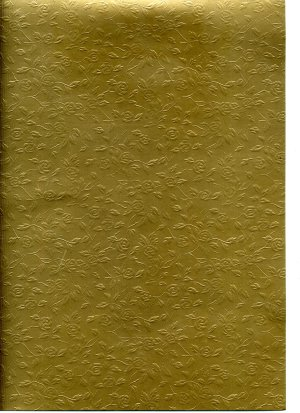 Embossed Card A4 - Gold (Roses) - 225gsm