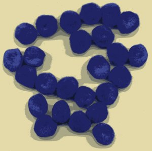 "Pompoms 1/2"" - Blue (Royal Blue) x 20"