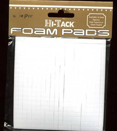 Single sided 3D foam pads - 5mm x 5mm x 3mm