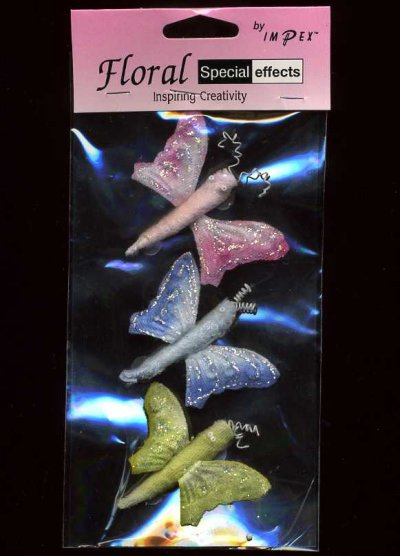 3D Butterfly Embellishments - Large x 3