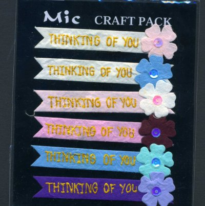 Banners - Thinking of you x 6 (KP595)