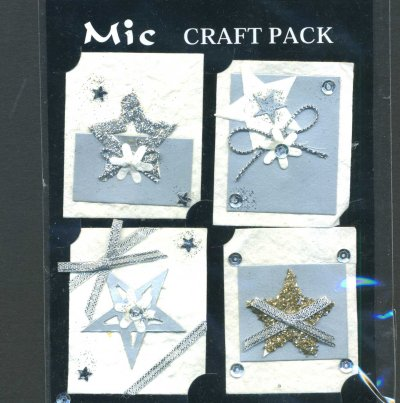Toppers - Christmas (Silver) x 4 (KP319)